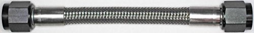 AN-6 36 In. Long Stainless Steel Braid Teflon Hose/black straights NC