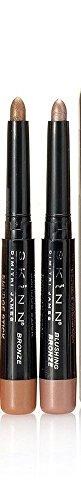 Skinn Cosmetics Smudge Stick for Eyes - Set of 2 Waterproof Eye Pencils - Moonlit & Blushing Bronze