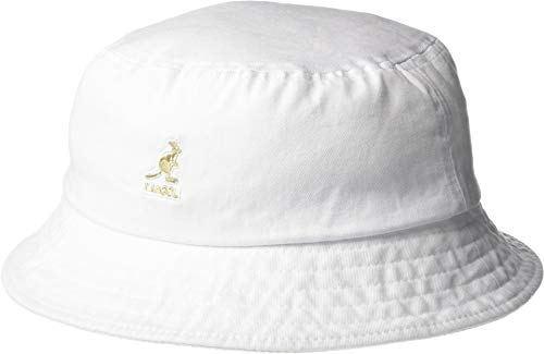 Kangol Unisex Washed Bucket White MD (7-7 1/8)