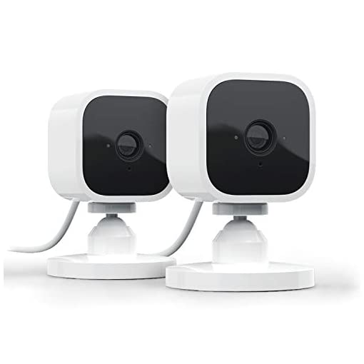 Introducing Blink Mini   Compact indoor plug-in smart security camera, 1080p HD video, motion detection, Works with Alexa   2 Cameras