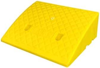 屋内/屋外 電動車いすスロープ、車/車の縁石は、老人ホームカートランプ/カート傾斜路プラスチック傾斜路/複数のサイズをランプ 車庫アクセサリ (Color : Yellow, Size : 50*40*17cm)