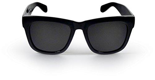 SoMuchSun Unisex Low Nose Bridge Sunglasses (Morgan 6011) (Black Matte, Polarized - Bridge Low Sunglasses