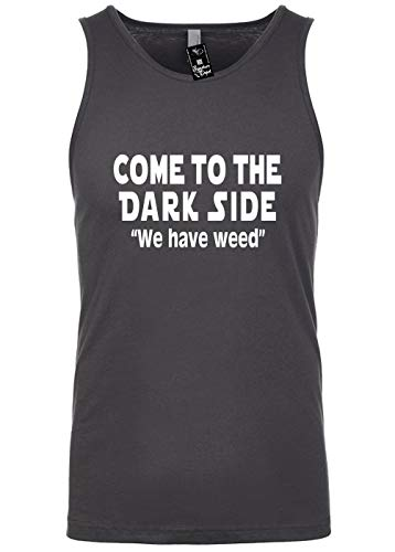 Signature Depot Mens Funny Tank Top T-Shirt Unisex Size M (Come to The Dark Side WE Have Weed)