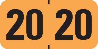 2020 Year Label Rolls of 500-1-1//2 x 3//4 3 Rolls  Free Shipping!