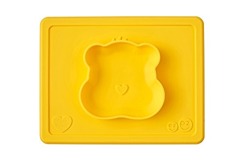 ezpz Care Bears Bowl - One-piece silicone placemat + plate (Marigold) by ezpz
