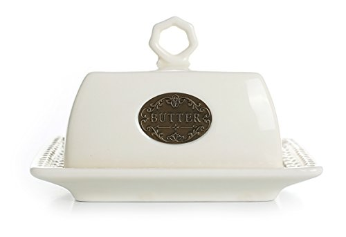Ceramic Butter Dish with Lid, Vintage Home Decor Table Decorations, (Dish Lid)