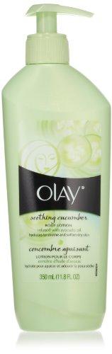 Olay apaisant concombre lotion pour le corps, blanc, 11,8 once liquide (pack de 2)