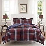Madison Park Essentials Bernard 3M Scotchgard Down Alternative Comforter Mini Set, Twin/ Twin X-Large, Red
