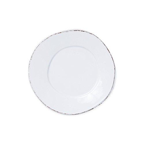 Vietri Melamine Lastra White Dinner Plate