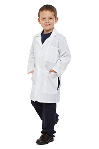 Dress up America Kids Unisex Doctor Lab Coat Toddler 4 (3-4), White