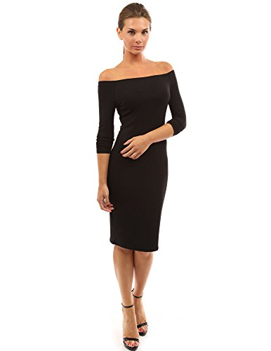 PattyBoutik-Womens-Off-Shoulder-Long-Sleeve-Dress-Black-L