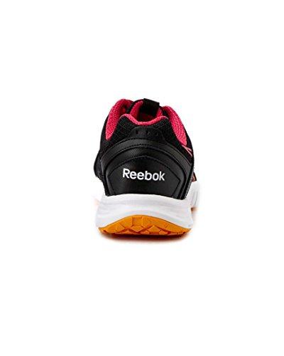 Reebok - Juniors Sport Fury Rs Pelle Nero Rosa Arancione Scarpe Basse, Taglia: 10 B (m) Us, Colore: Lthr Black Candy Pink Neon Orange White