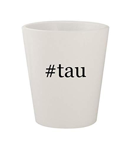 #tau - Ceramic White Hashtag 1.5oz Shot Glass