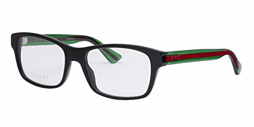 Gucci GG 0006O 006 Black Plastic Rectangle Eyeglasses 55mm by Gucci