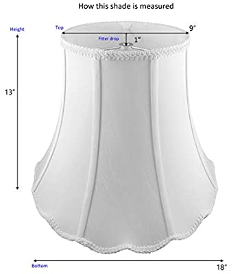 American Pride Lampshade Co. 01-78094108 Scallop Soft Tailored Lampshade