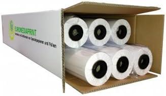 29,7cm 45m l 1,18/€//m/² b 90g//m/² beschichtet 297mm Plotterpapier gestrichen 6 Rollen