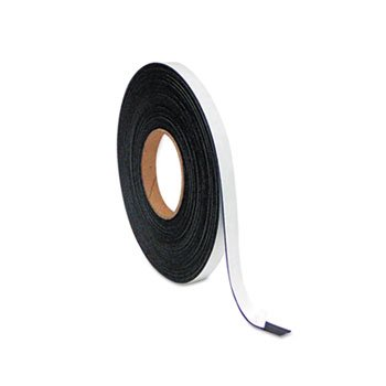 MasterVision FM2321 Magnetic Adhesive Tape Roll, 1/2'' x 50 Ft, Black