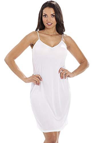 CAMILLE Damen Unterkleid Weiß Weiß