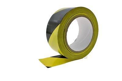 2pk 2'' General Purpose Black Yellow Insulated Adhesive PVC Vinyl Sealing Coding Marking Electrical Tape (1.88IN 48MM) 36 yard 7 mil