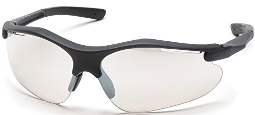 - Pyramex Fortress Safety Eyewear, Indoor/Outdoor Mirror Lens With Silver Frame