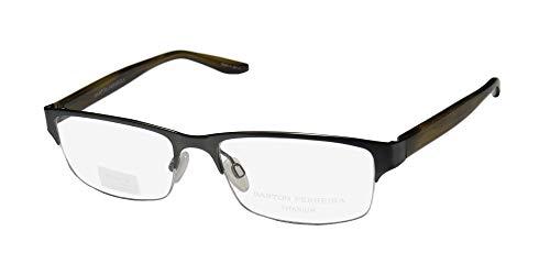 Barton Perreira Clifton Mens/Womens Designer Half-rim Titanium Must Have Eyeglasses/Spectacles (53-17-140, ()