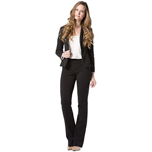 9f6bc6ef0e Fishers Finery Women s Ecofabric Ponte Stretch Boot Leg Dress Pant  Pull On  70%OFF