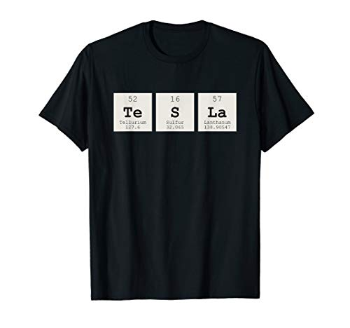 Periodic Table Tesla Shirt