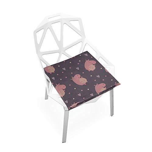 Zaqiwa Soft Office Chair Cushion Ugly Animal Hippopotamus Soft Non-Slip Memory Foam Chair Pads Cushions Seat for Home Kitchen Office Desk 16x16 Inch Memory Foam Cushion Chair (Hippopotamus Sofa)