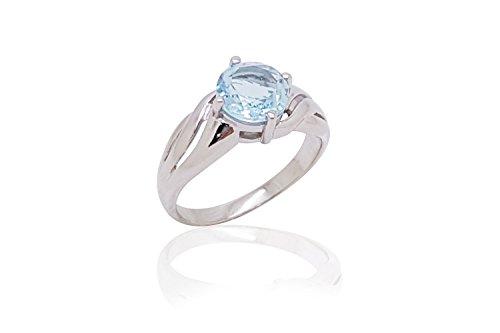 Sparkling Fine Blue Topaz 925 Sterling Silver Ring (10) by Belinda