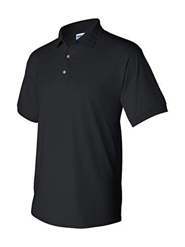 Gildan Mens 5.6 oz. DryBlend 50/50 Jersey Polo G880 -BLACK 3XL