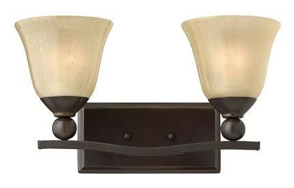 Hinkley 5892OB Bolla Collection Bath Light, Olde Bronze Finish - Champagne Rust Seedy Glass by Hinkley