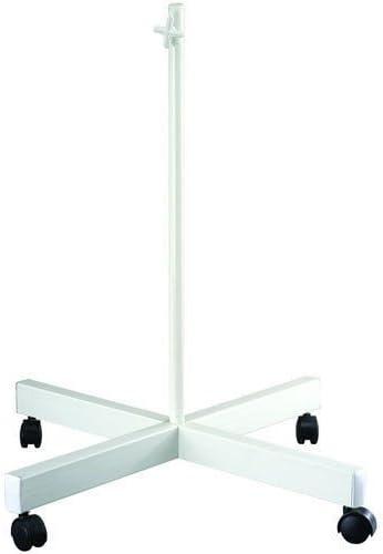 PIED A 4 ROULETTES SUPPORT SOCLE STATIF POUR LAMPE LOUPE A PIED ECLAIRAGE