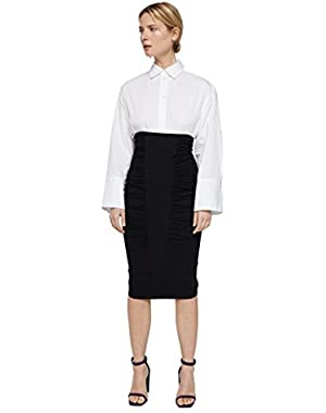 Mango Women's Draped Pencil Skirt