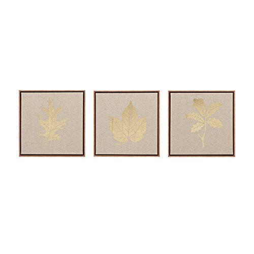 Madison Park Golden Harvest Framed Canvas Wall Art 12X12 4 Piece Multi Panel, Botanical Transitional Wall Décor