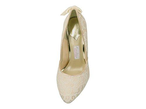 Bride femme Ivory cheville Elsa Coloured Shoes AcnPqZWzE