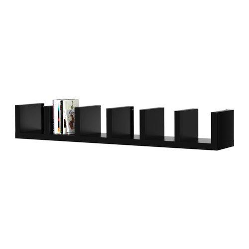 Ikea Wall shelf unit, black 11 3/4x74 3/4 '', 624.201123.3038