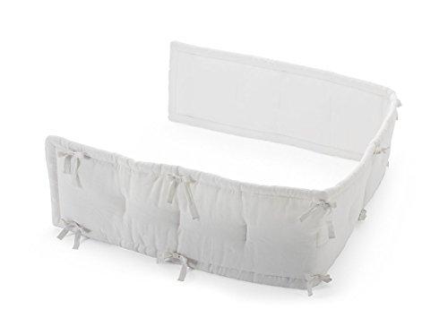 Bumper Coverlet - Stokke Half Bumper, White