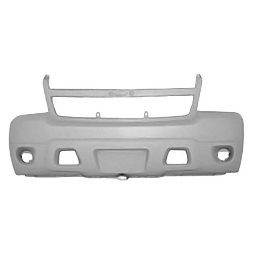 (Replacement Front Bumper Cover Fits Chevy Avalanche: W/O Off-Road Package W/O Park Assist Sensors With Tow Hook With Fog Lights W/O Headlight Washers)