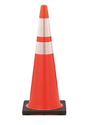 JBC SAFETY PLASTIC RS90055CT3M64 Revolution, Rs Wide Body Traffic Safety Cone With (2) Reflective Collar, 36 In H, Pvc