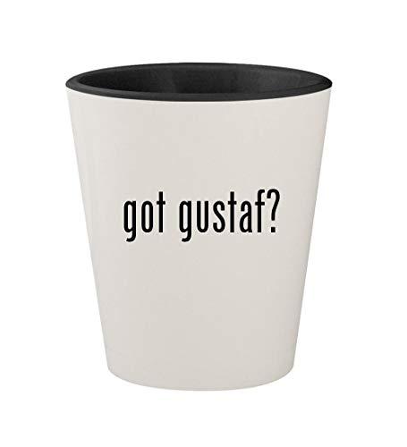 got gustaf? - Ceramic White Outer & Black Inner 1.5oz Shot Glass