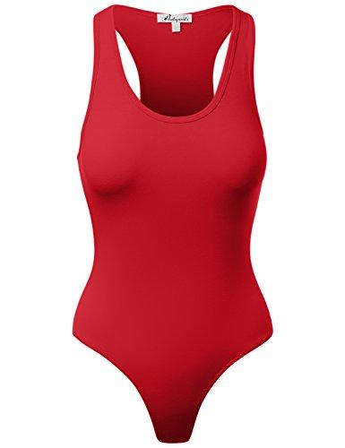 Cotton Racer Back Tank Premium Body Suit Ruby Medium]()