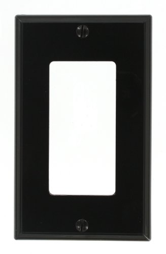 Black Standard Switch - Leviton 80401-NE 1-Gang Decora/GFCI Device Wallplate, Standard Size, Thermoplastic Nylon, Device Mount, Black