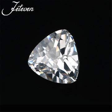 (12X12MM Trillion Cut Unheated 10.28Ct White Sapphire AAAA+ Loose Gemstone Decorations - Hardware & Accessories Decorative Hardware - 1 x Gemstone)
