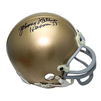 Johnny Lattner Autographed Signed Notre Dame Fighting Irish Riddell Mini Helmet with Heisman 53 Inscription - Certified Authentic