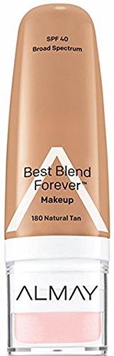 Almay Best Blend Forever Makeup, #180 Natural Tan, 1 fl oz (Pack of 2) (Almay Best Blend Forever Makeup)