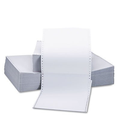 Two-Part Carbonless Paper, 15lb, 9-1/2 x 11, Perforated, White, 1650 Sheets, Sold as 1 Carton, 1650 Sheet per Carton