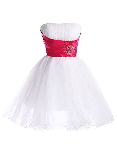 Flared Swing Dresses for Teenagers White Voile Size 6 CL4097-2