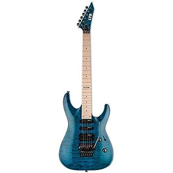esp ltd mh 103qm electric guitar see thru blue musical instruments. Black Bedroom Furniture Sets. Home Design Ideas