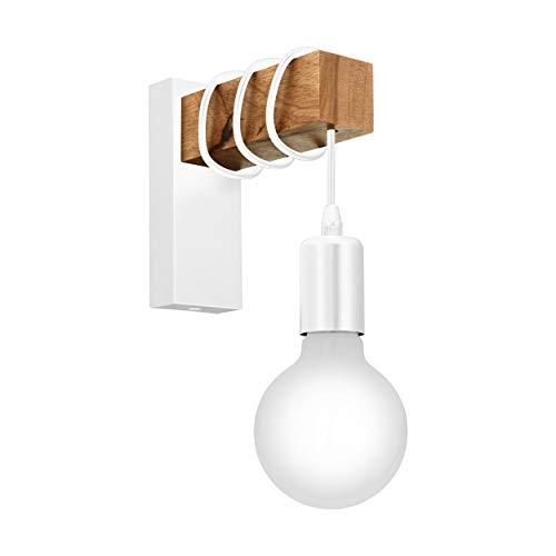 EGLO Townshend Lámpara de pared, 10 W, Blanco