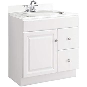 "30"" Wide x 21"" Deep New White Shaker Single-sink Bathroom ..."